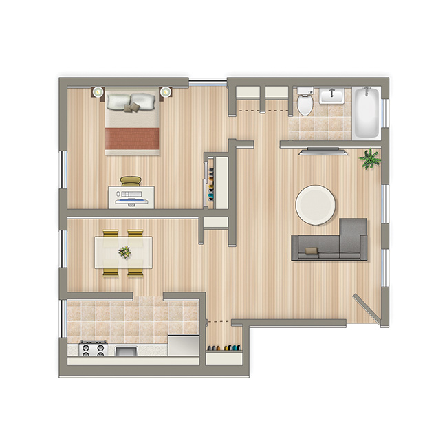 Crescent-Park-One-Bedroom-Floorplan-Washington-DC-Apartment-Rental