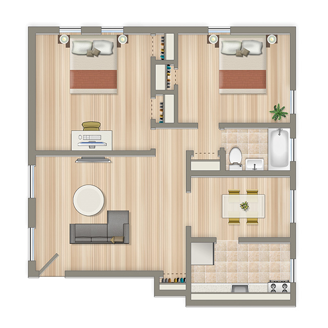 Crescent-Park-Two-Bedroom-Floorplan-Washington-DC-Apartment-Rental